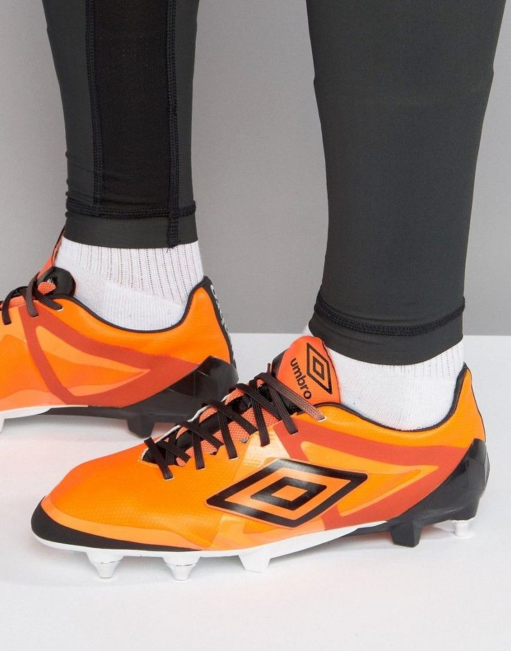 Get this Umbro's football shoes now! Click for more details. Worldwide shipping. Umbro Velocita Pro SG Football Boots - Orange: Trainers by Umbro, Faux-leather upper, Cushioned insole for comfort, Ideal for playing on soft ground surfaces, Lace-up fastening, Mesh tongue for breathability, Constructed to provide better ball feel, Unique stud placement for better traction when changing direction, Wipe with a damp sponge, 100% Polyurethane Upper. The creation of brothers Harold and Wallace…