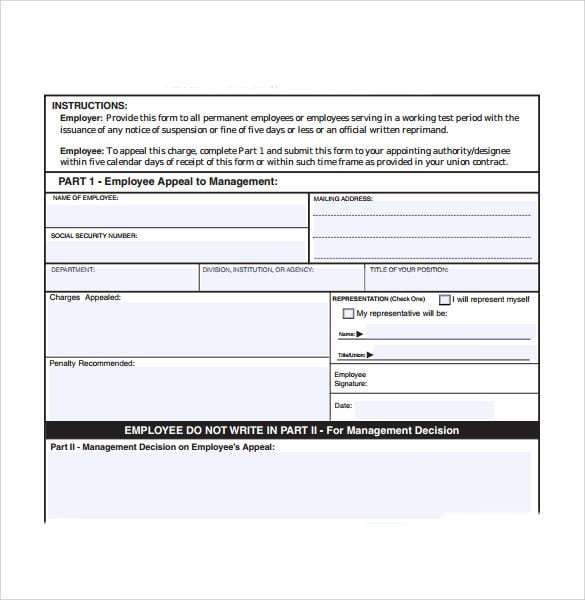 Employee Write Up Form 3 Word Template Writing Research Poster