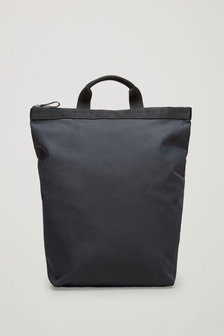 COS image 1 of Tote backpack in Dark Navy