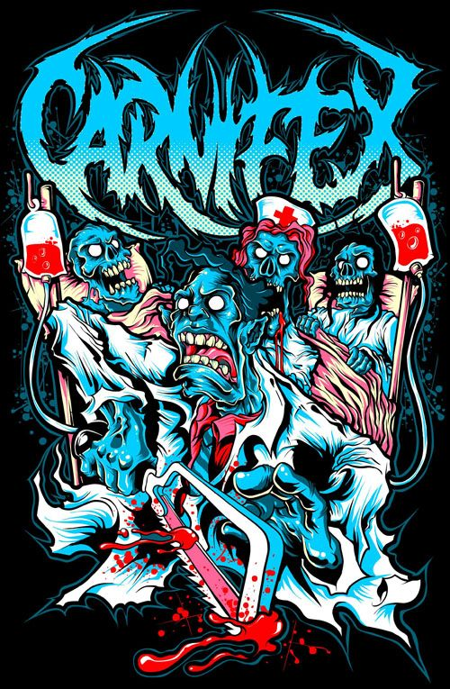Done a design for deathcore band carnifex approved check carnifex music here now avaialble