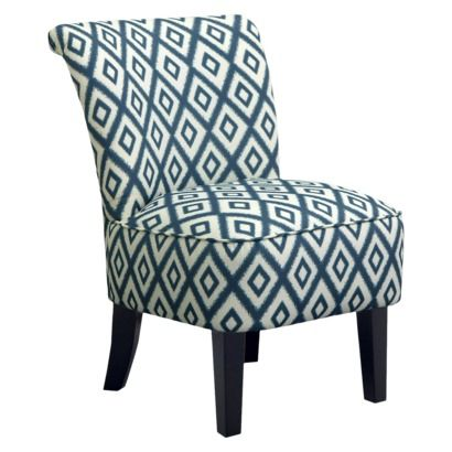 for the living room: Rounded Back Chair - Ikat Blue