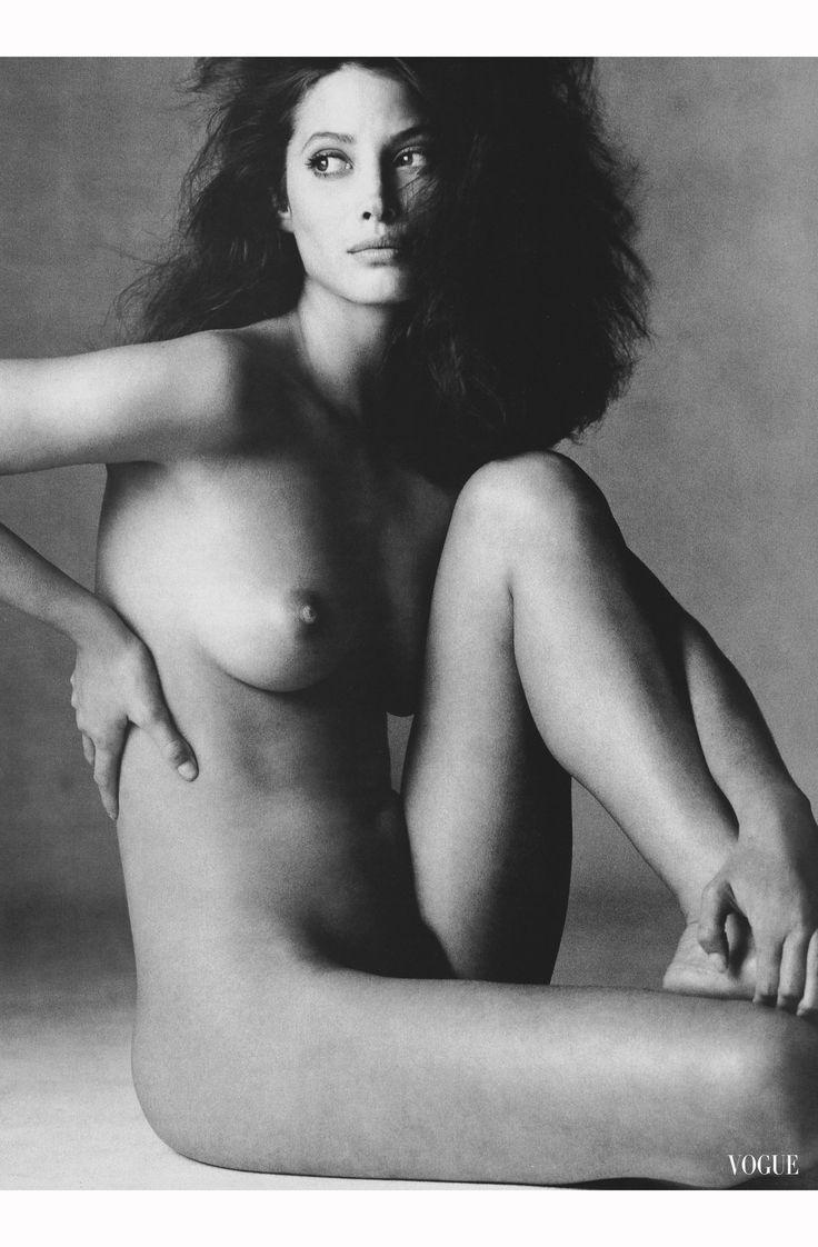 Christy Turlington, Vogue, January 1994. Photo by Irving Penn.
