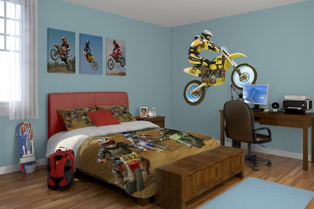 14 best the boys room images on pinterest child room for Dirt bike bedroom ideas