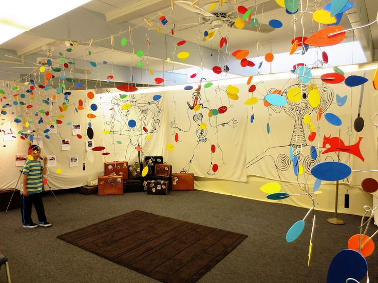Calder Mobiles created by 3rd and 4th graders