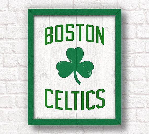 BOSTON CELTICS  rustic handmade sign  Celtics sign for Boys