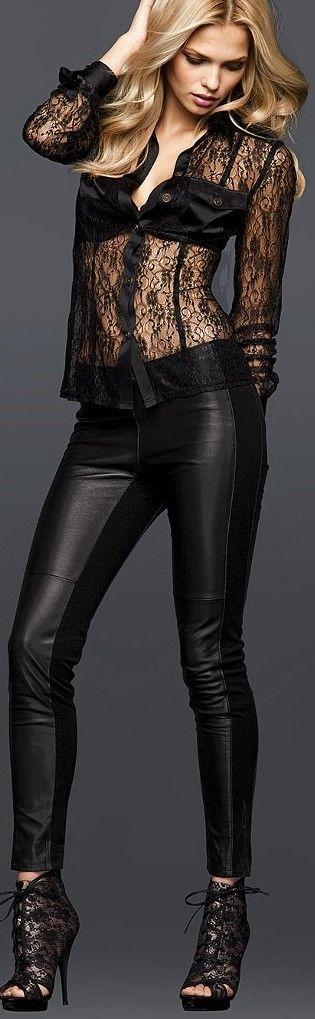 Black lace shirt, transparence, dentelle, style vestimentaire séduction