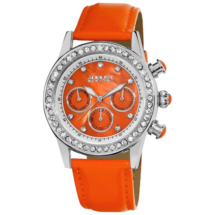 Ladies' Multifunction Dazzling Watch In Orange