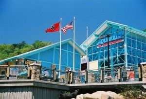 A photo of the outside of Ripley's Aquarium of the Smokies in Gatlinburg, Tennessee.
