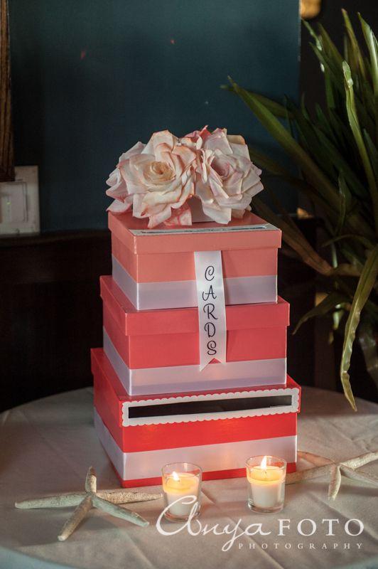 Wedding Gift Table anyafoto.com, #wedding, wedding gift box, wedding gift card box, pink wedding card box, wedding card box ideas, wedding card box designs, tiered wedding card box, flower wedding card box topper