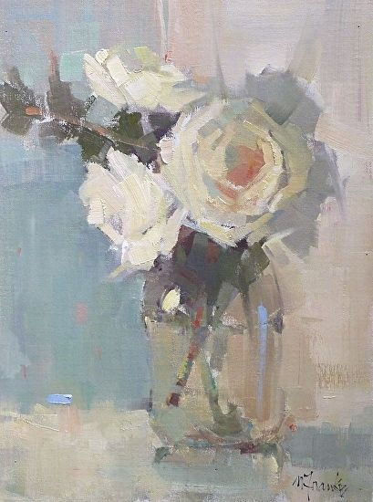 Nancy Franke | Softly.               Oil ~ 16 x 12