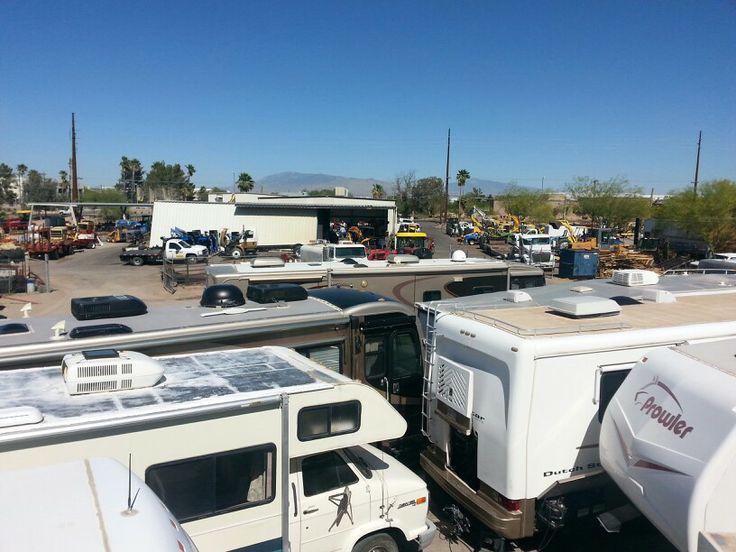 Top view of Rv Recreational vehicles, Camper repair