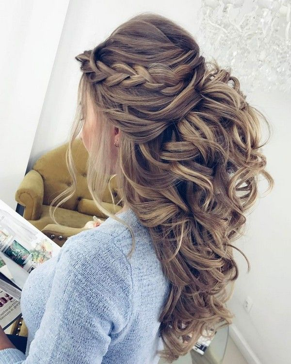Elstile Long Wedding Hairstyle Inspiration ❤️ http://www.deerpearlflowers.com/elstile-long-wedding-hairstyle-inspiration/6/