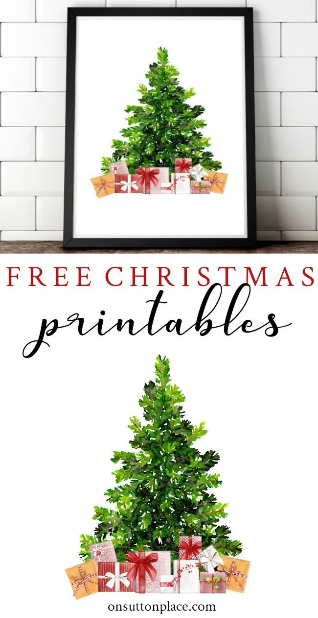 Free Christmas Printables: Holiday Wall Decor Ideas | On Sutton ...