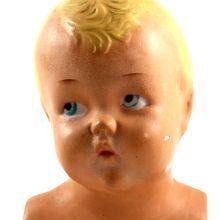 Signed Vintage Child Advertising Mannequin Bust Display