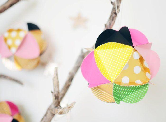 Deko Bälle aus Papier | DIY Ideen
