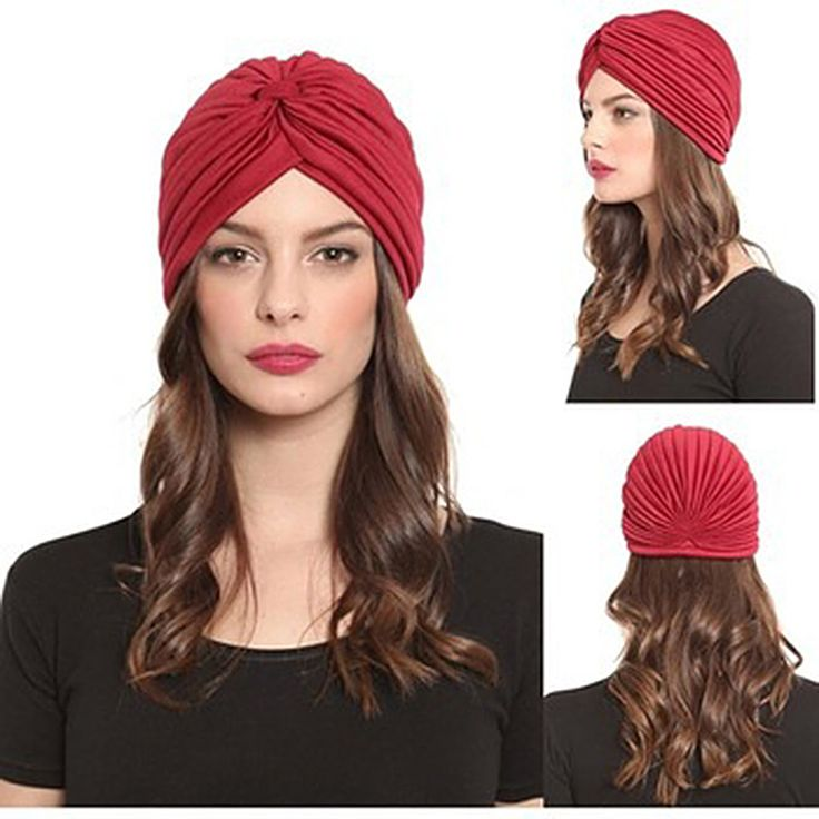 2016 New Fashion Women Turban Hat Bohemia 21 Solid Color Fold Beanies Female Simple Autumn Bonnet Indian Turban Hats For Women