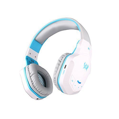 Sound Intone B3505 Professional Wireless Bluetooth Stereo PC Gaming Headphone Noise-cancelling Headset Volume Control Microphone HiFi Build-in NFC Function for Bluetooth Devices (white blue). Sound Intone B3505 Professional Wireless Bluetooth Stereo PC Gaming Headphone Noise-cancelling Headset Volume Control Microphone HiFi Build-in NFC Function for Bluetooth Devices (white blue).