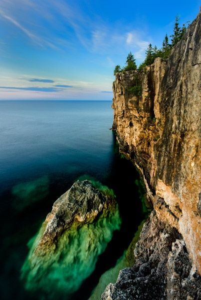 Bruce trail – Ontario, Canada.  I'm actually scared just looking at it. Ha. I hate heights! It sure is gorgeous though.