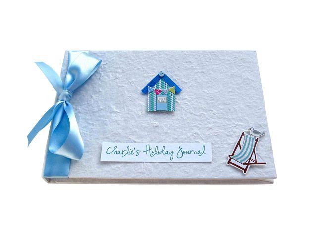 Personalised Holiday Journal - Beach Hut £24.95