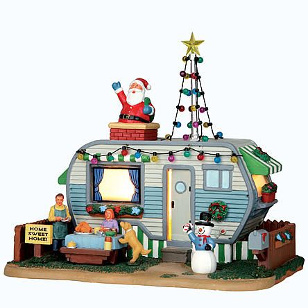 Coventry cove by lemax christmas village building home for Airstream christmas decoration