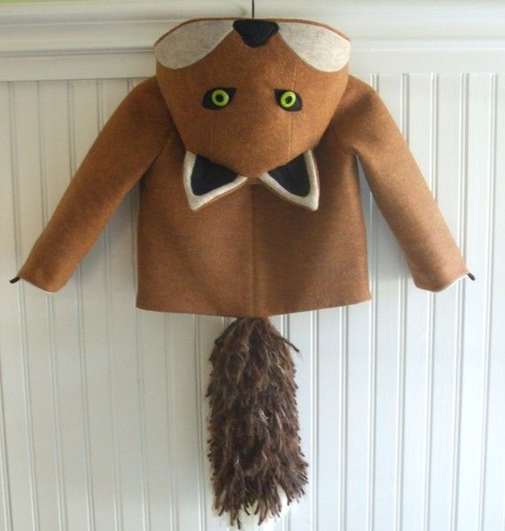 Fantastic Little Fox Coat by littlegoodall on Etsy @Jen Joyce I would have tried to convince you to wear this.