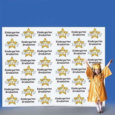 Kindergarten Stars Step and Repeat Wall - #kindergarten #Repeat #stars - #DecorationGraduation