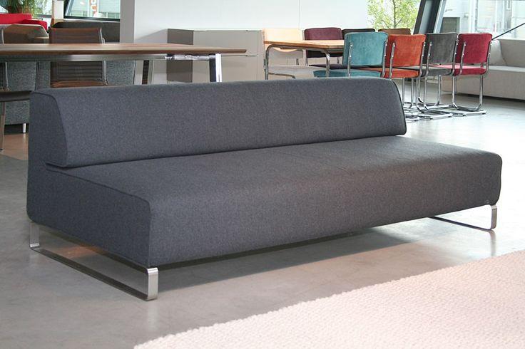 Marvin bank 200 cm  Facet Middengrijs 1001 - Designsales.nl 200cm nu 1175,00