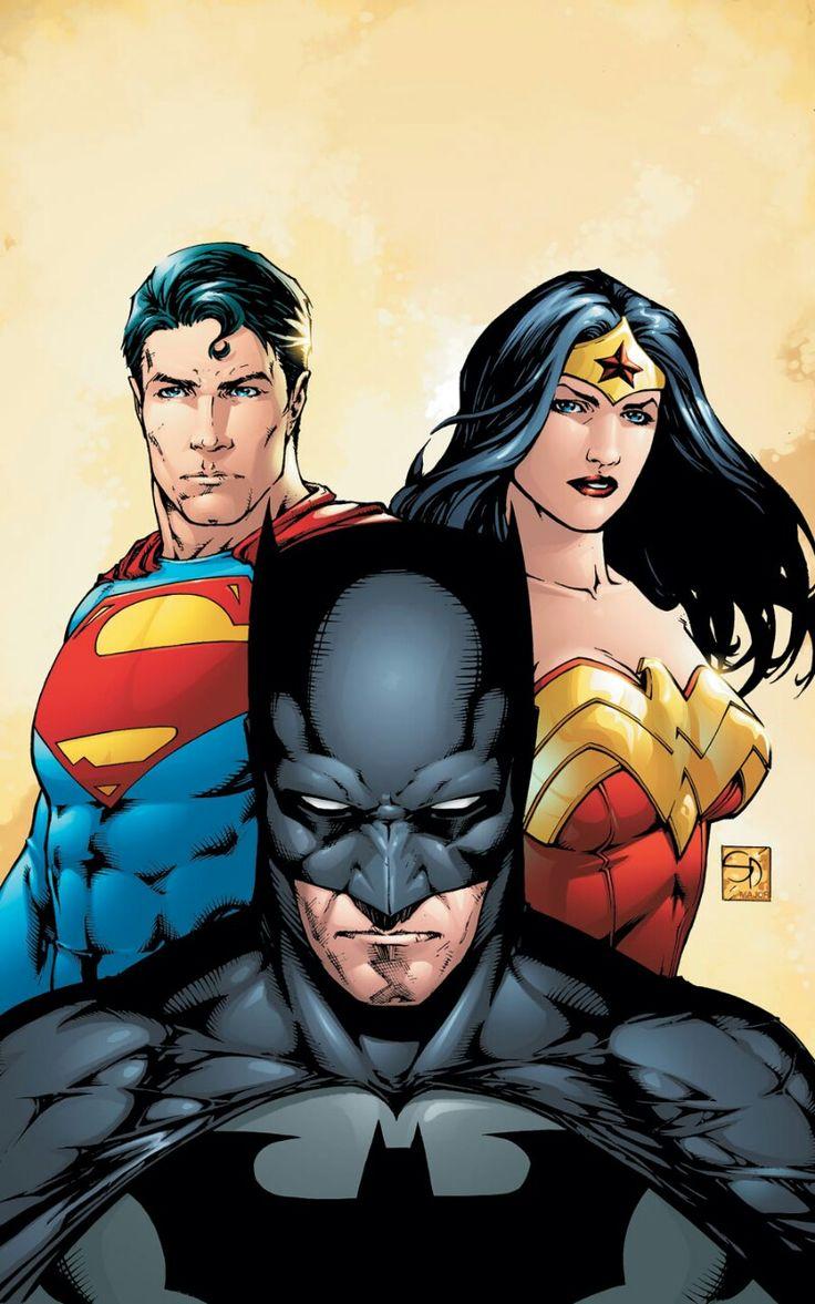 Dc trinity superman wonder womangraphic