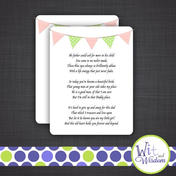 Wedding Speeches Poems Father Daughter Of The Bride Speech