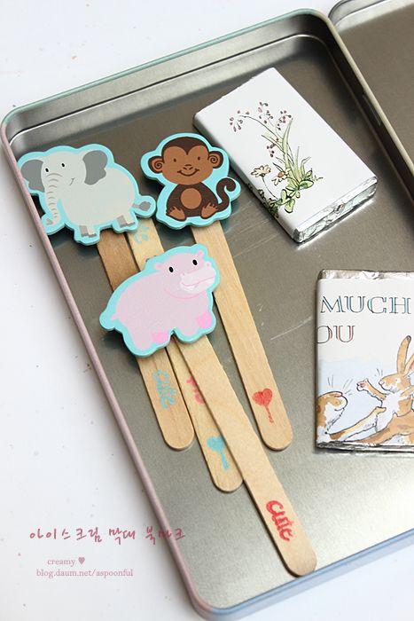 baking101 :: 아이스크림 막대 책갈피(북마크) 만들기  ice cream stick bookmarks