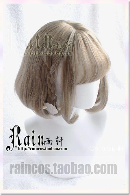 """Rain Yu Xuan"" Cute little daily matt / simulation scalp soft big sister girl bangs wig air - Taobao global Station"