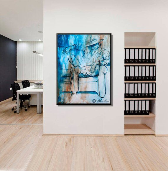 Large Canvas Art Print Men Office Decor Man Office Wall Art Etsy Large Canvas Art Canvas Art Prints Large Art Prints