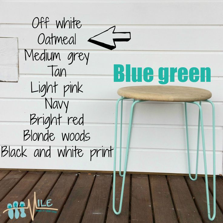 Blue green goes with...