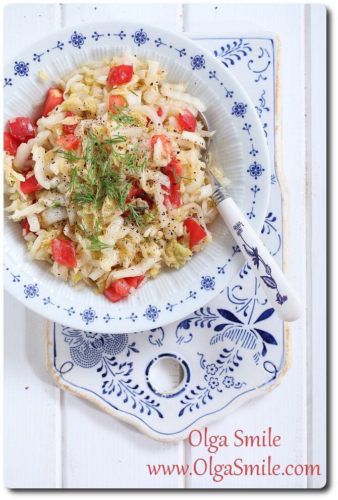 Napa salad by Olga Smile