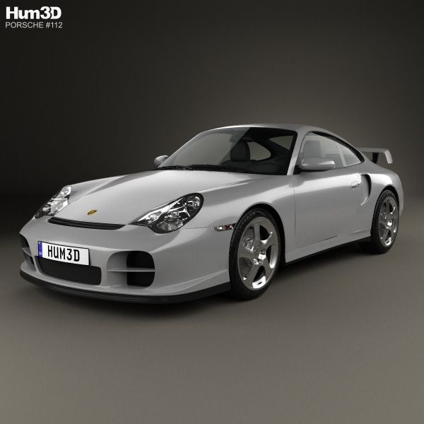 Porsche 911 GT2 Coupe (996) 2001 3d model from Hum3d.com.