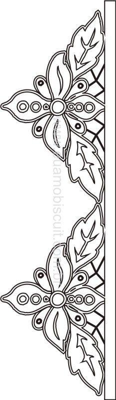 Beautiful little cutwork edging pattern
