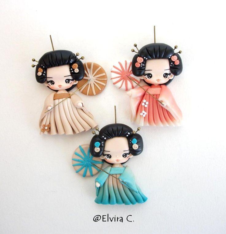 Geisha necklace work in progress by elvira-creations.deviantart.com on @deviantART