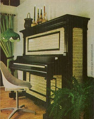 Wallpaper an old piano with sheet music!   Oh my god I need this!!!!!!
