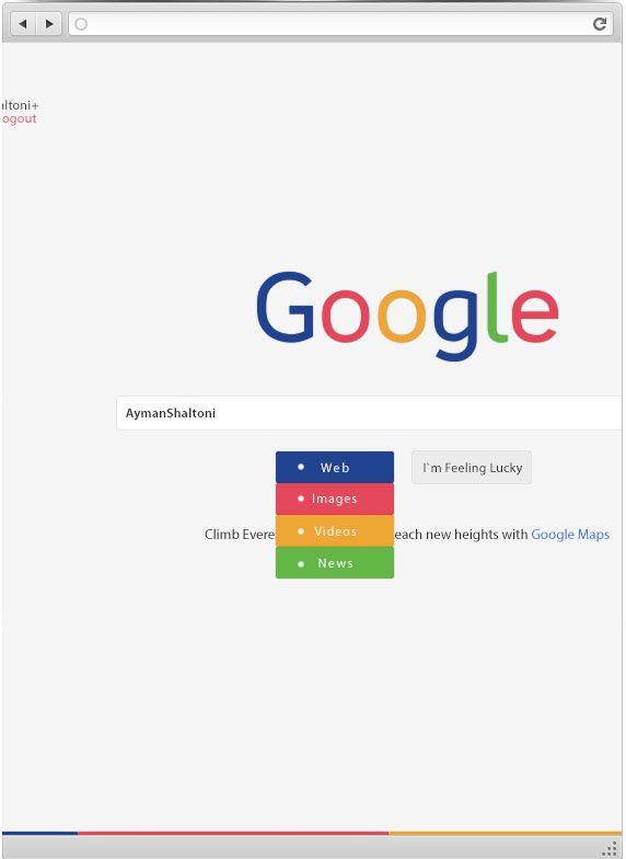Google Homepage Redesign