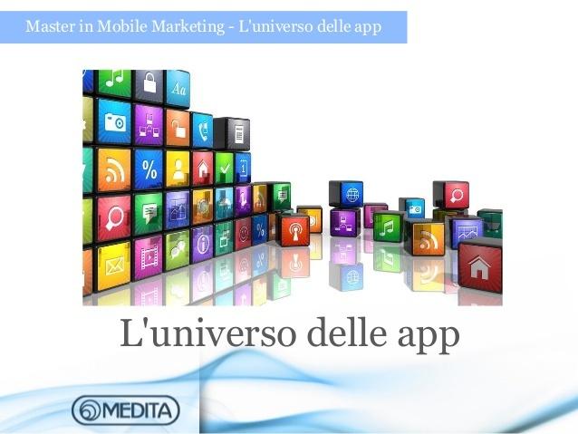 App marketing - L'universo delle app. Slide preparate per un master in mobile marketing tenuto presso la Facoltà di Economia (Memotef). Buona lettura!