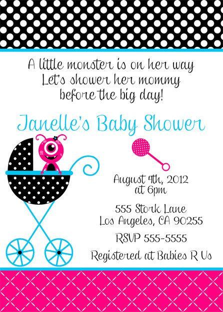Monster Baby Shower Invitation! I love this!!
