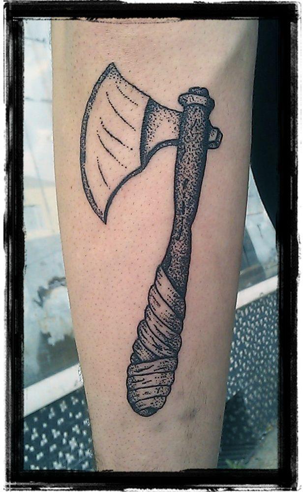 Axe Dotwork Tattoo