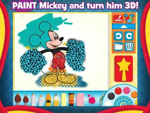 Mickey Mouse Clubhouse Paint and Play - 3D coloring book for preschoolers that lets you create and explore the Clubhouse world!