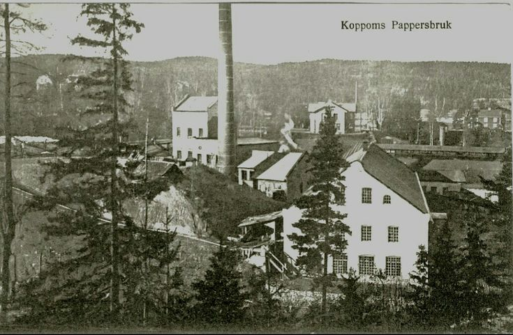 Värmland Eda kommun Järnskog  Koppoms pappersbruk 1930-tal