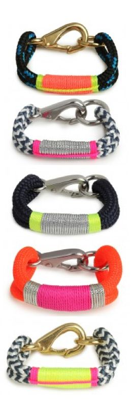The Ropes Maine Bracelets. Saw in a store and have been thinking about them ever since!