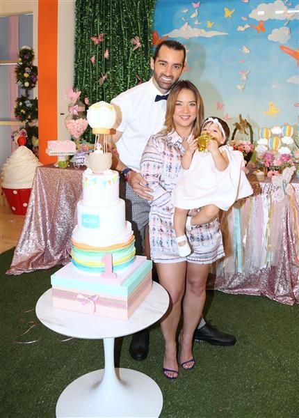 Adamari López celebra el primer cumpleaños de Alaïa en 'Un Nuevo Día', Miami, el 4 de marzo de 2016.¿Nos sigues en Twitter?