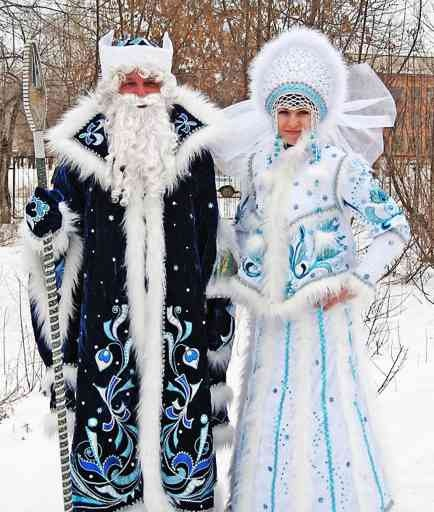However, another Russian fairy-tale tells a story of an old man and woman who had always regretted that they did not have any children. In winter they made a girl out of snow. The snow maiden came alive and became the daughter they never had. They called her Snegurochka.