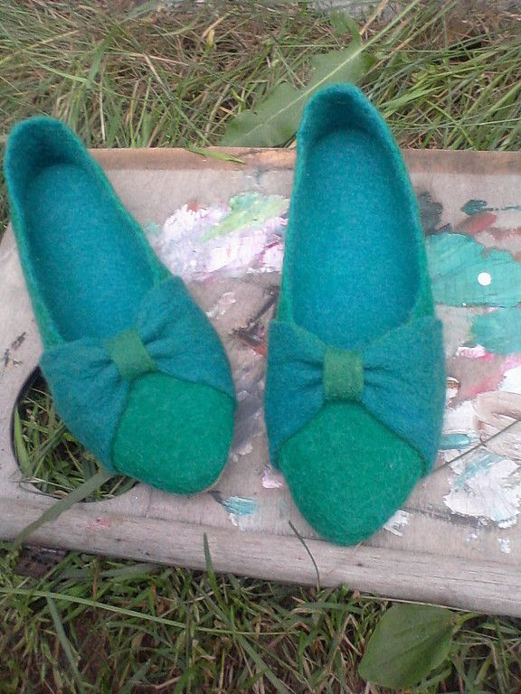 """Купить Войлочные балетки """"HAVE FUN!"""" - обувь, валяная обувь, войлочная обувь, обувь из войлока"""