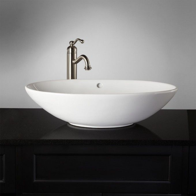 Phelan Vessel Sink - White - Bathroom