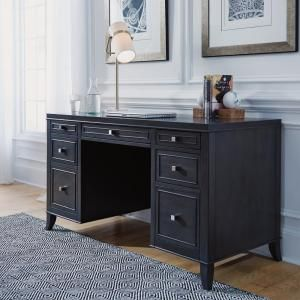Home Styles 5th Avenue Gray Sable Executive Pedestal Desk-5436-18 - The Home Depot